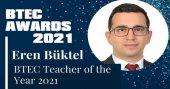 TED Atakent'ten Eren Büktel BTEC'in Yılın Öğretmeni seçildi