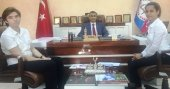 AREL öğrencileri Bahçelievler Milli Eğitim Müdürü Emin Çıkrıkçı ile konuştu